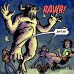 rawr berbackus cryptid tourists attack oneshi press justice anthology comic book comicbook