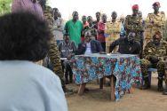 In Gumuruk, Leila Zerrougui met David Yau Yau, the leader of the South Sudan Democratic Movement\Army. ©OSRSG-CAAC