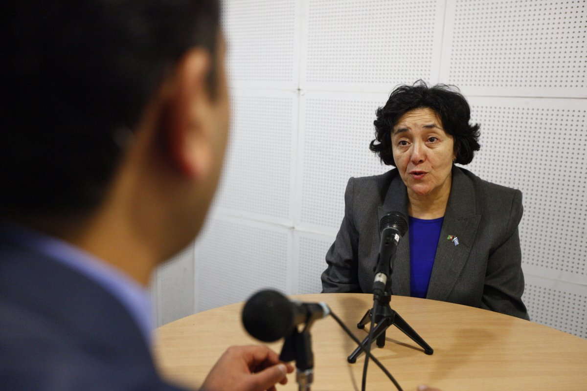 At the end of her mission to Afghanistan, Leila Zerrougui spoke to Hamed Haleemi, UNAMA Radio Editor. ©UNAMA / Fardin Waezi.
