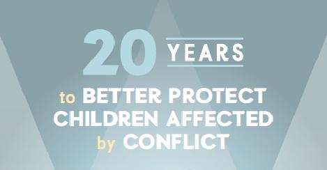 """Résultat de recherche d'images pour """"20 Years to Better Protect Children Affected by Conflict"""""""