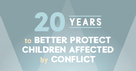 "Résultat de recherche d'images pour ""20 Years to Better Protect Children Affected by Conflict"""