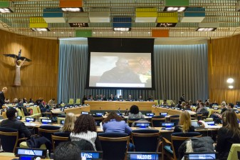 Forest Whitaker joined the event by video message. Photo: UN Photo/ Rick Bajornas
