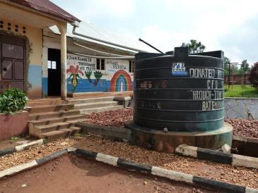 Water butt at JMLC