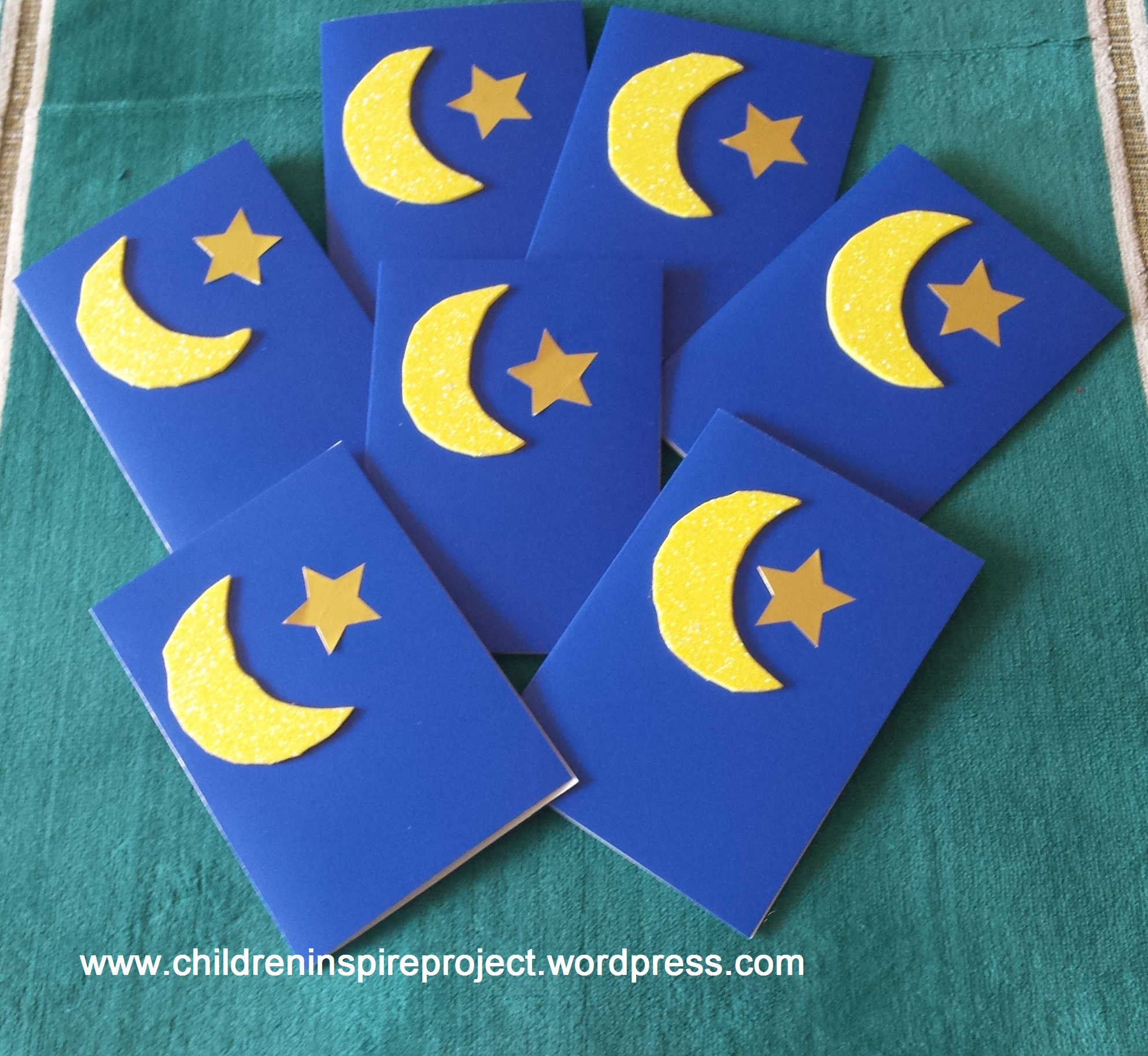 Shiny Moon And Star Eid Cards