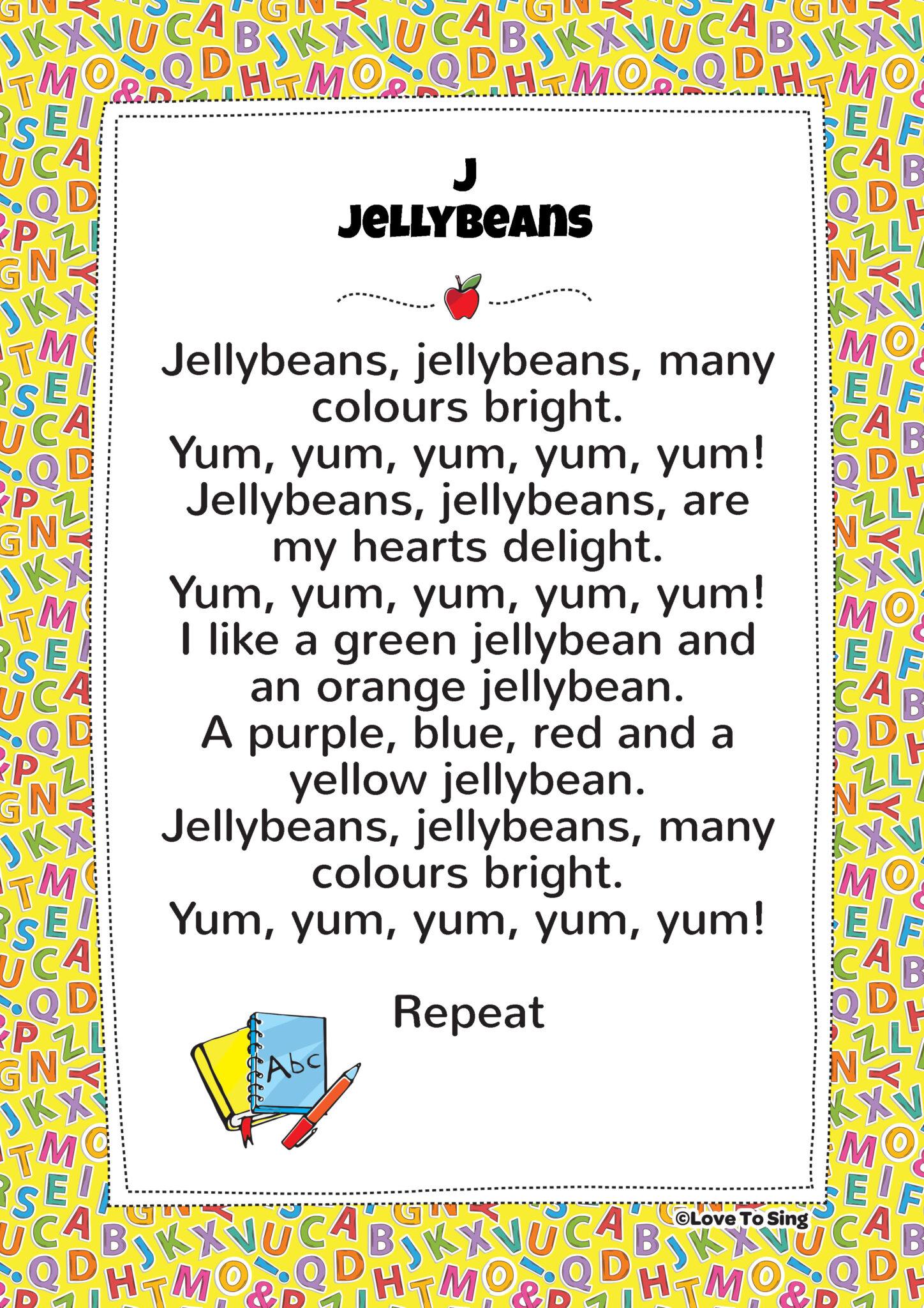 J Jelly Beans