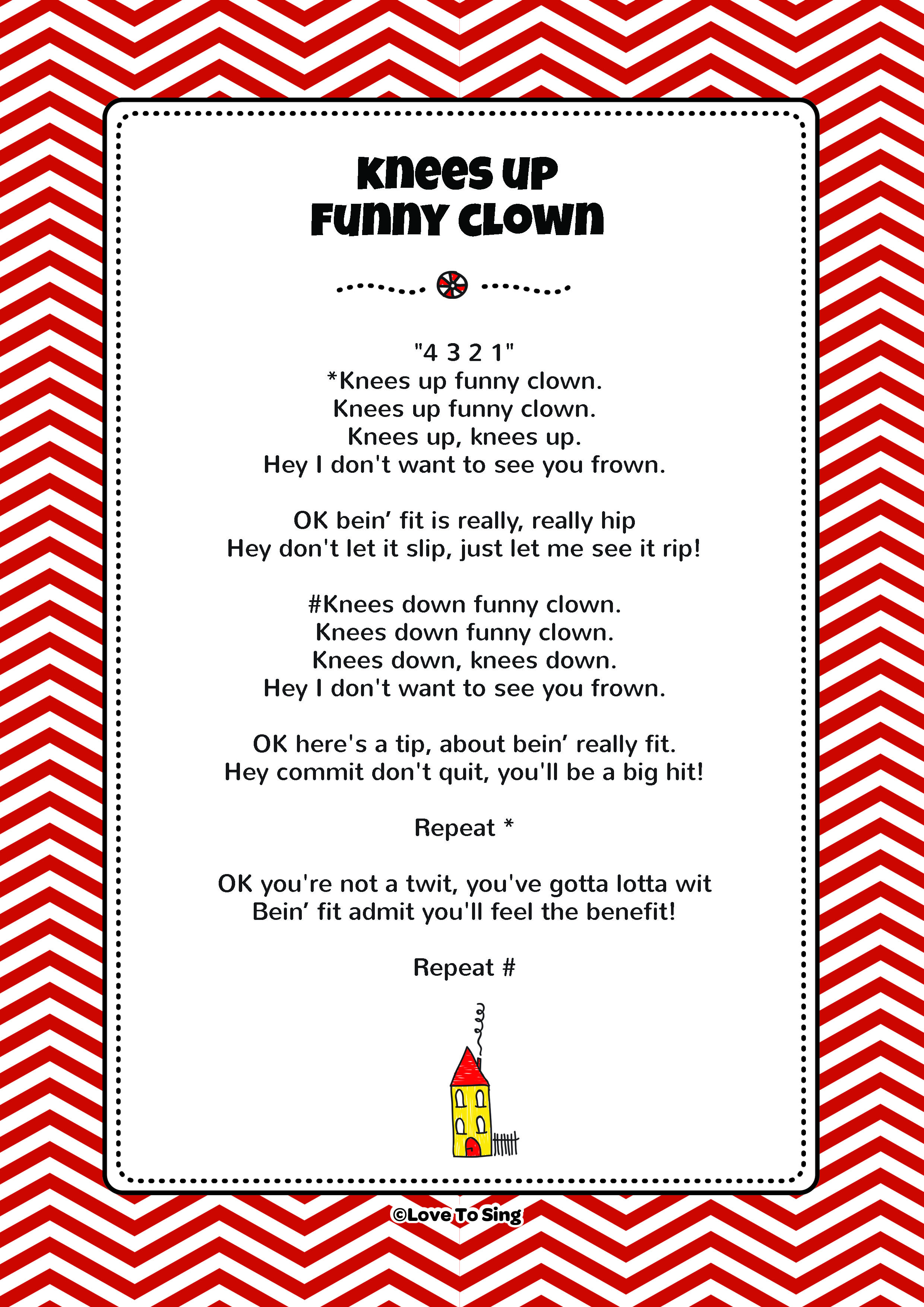 Knees Up Funny Clown Fitness Song