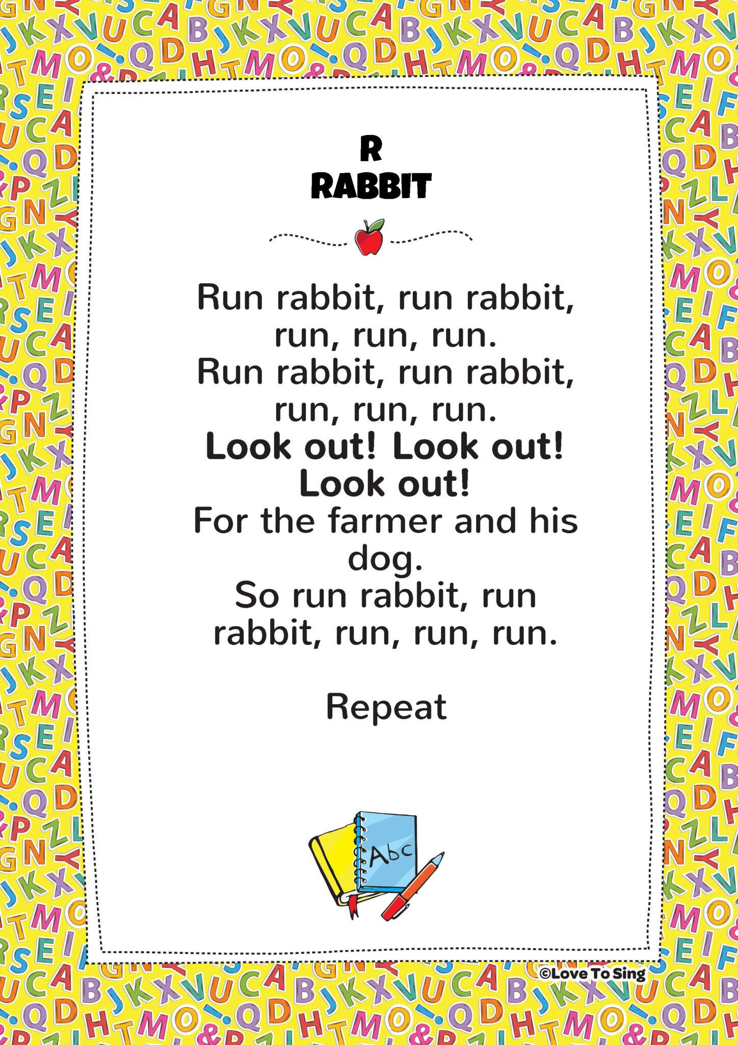 R Rabbit Phonics Song