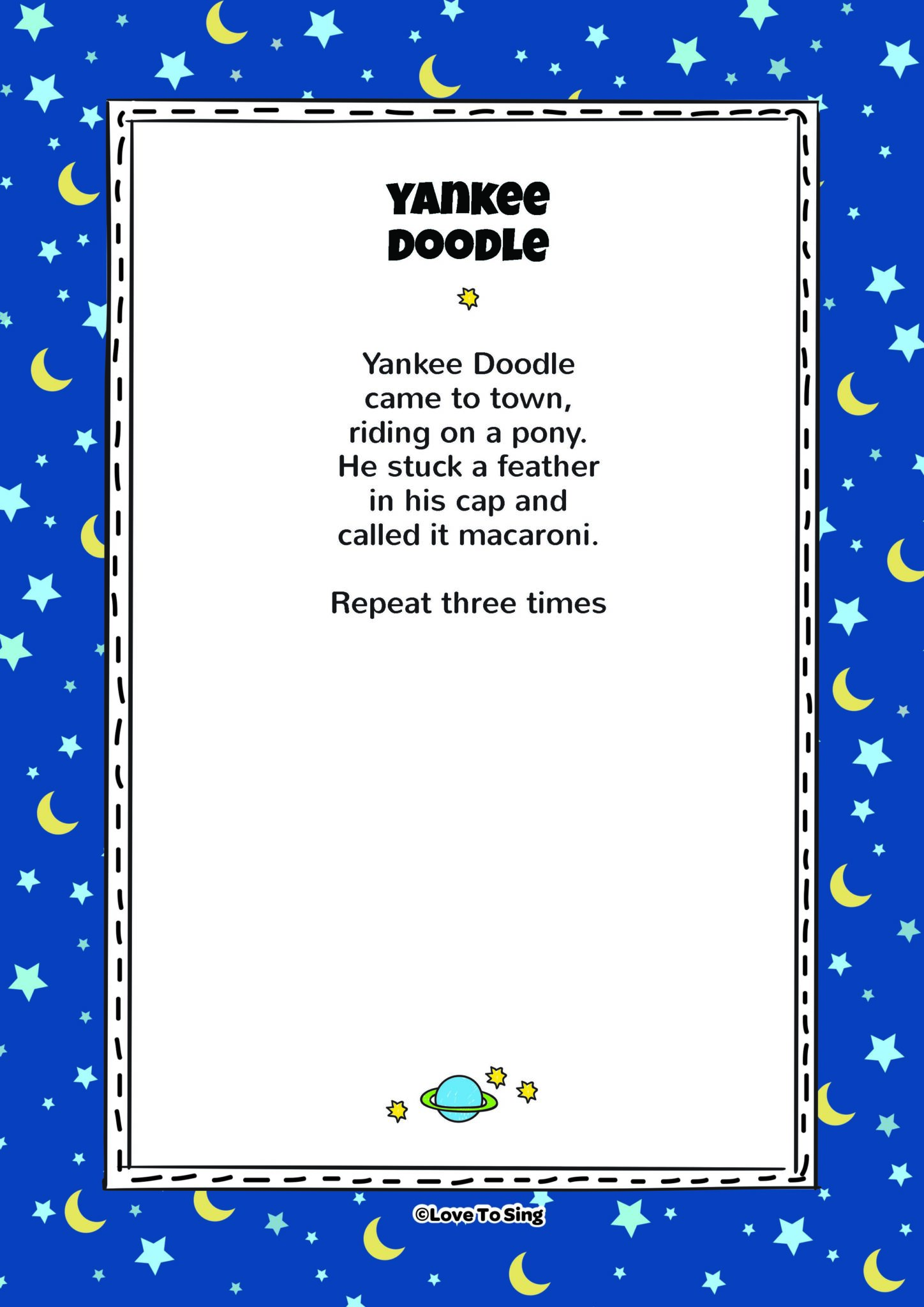 Yankee Doodle Kids Video Song With FREE Lyrics Amp Activities