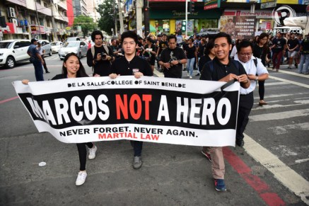 Photo from Rappler. Students of DLS-CSB.