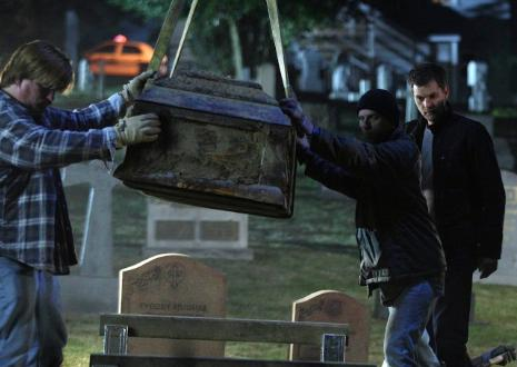 Don't mind us, we were just exhuming some caskets!