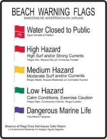 Beach Warning Flags