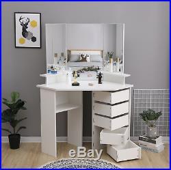 New Modern White Corner Dressing Table Makeup Desk Mirrors Storage Tables Desks Children S Bedroom Storage