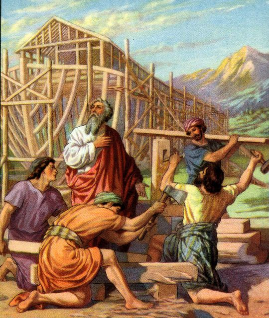 Noah's son building the ark