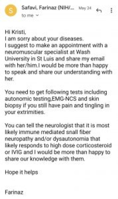 Kristi Dobbs NIH doctor Covid vaccine adverse reaction