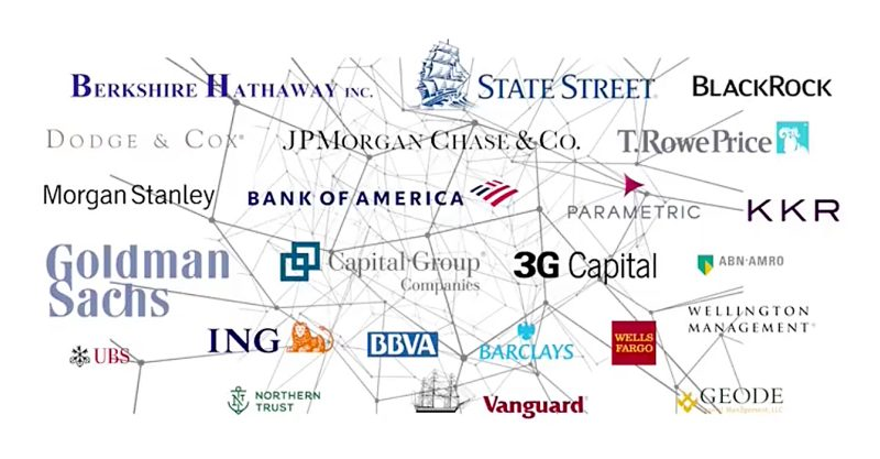 Big Pharma and mainstream media are largely owned by two asset management firms: BlackRock and Vanguard.