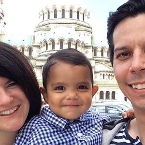 Perez family in Bulgaria