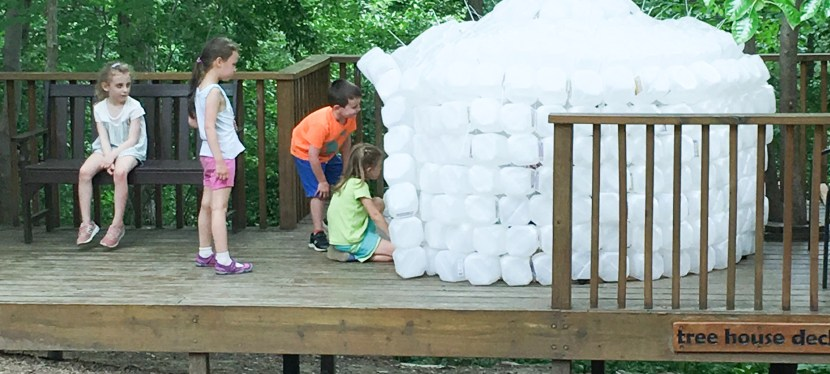 A Visit from a Former Student… and an Igloo??