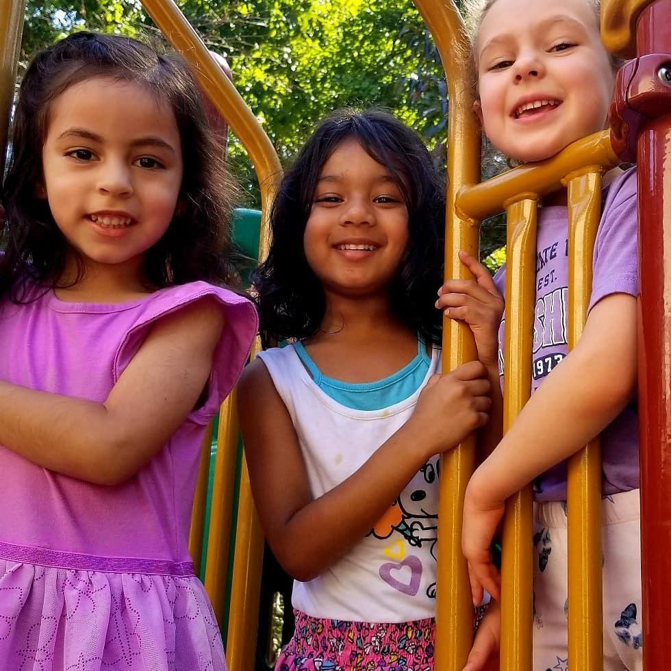 Kids on the playground.