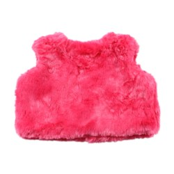 Bebe Isabel Fur Vest – Pop Pink