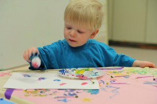 Toddler paints
