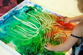 Drawing by Finger Paint