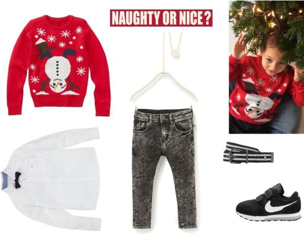 Foute Kersttrui Jongens.Naughty En Nice In Een Foute Kersttrui Childscloset