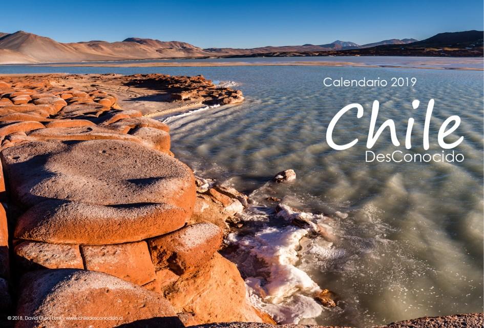 Portada Calendario Mural, Chile DesConocido 2019