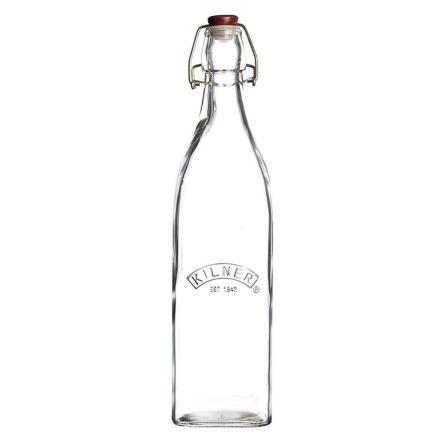 Botella Tapa Roja con Cierre Clip 1 Lt