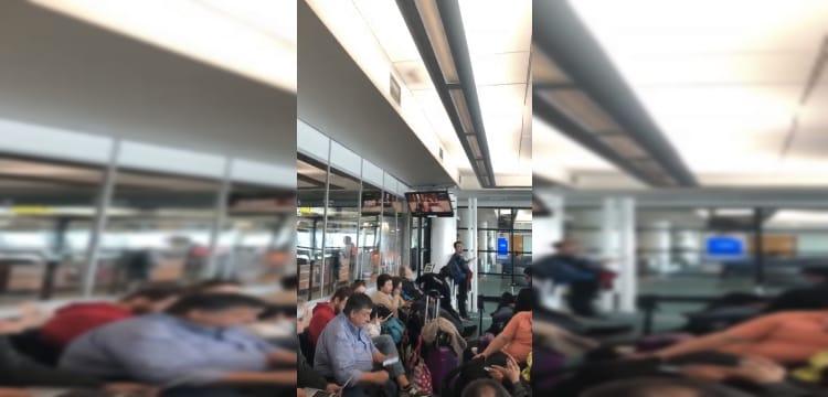 «Se nota que somos Chilenos» video muestra reacción en el AEROPUERTO ante TEMBLOR