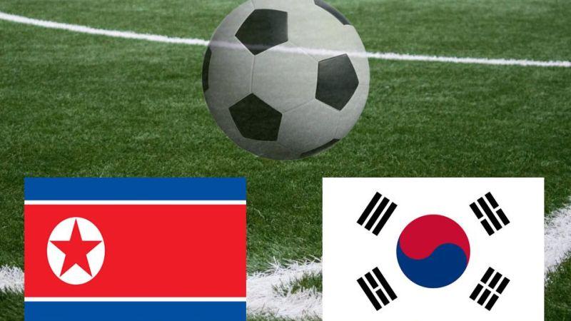 FOTO: Las dos Coreas juegan «el partido más intrigante del fútbol mundial» con un solo espectador en el estadio