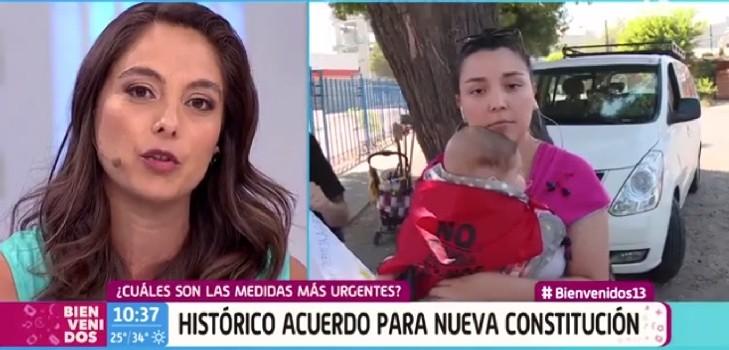 Ángeles Araya se quebró en 'Bienvenidos' con historia de joven madre: vivió su misma experiencia