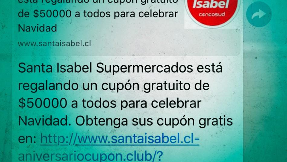 SUPERMERCADOS ADVIERTEN POSIBLE ESTAFA en giftcards gratis viralizadas.