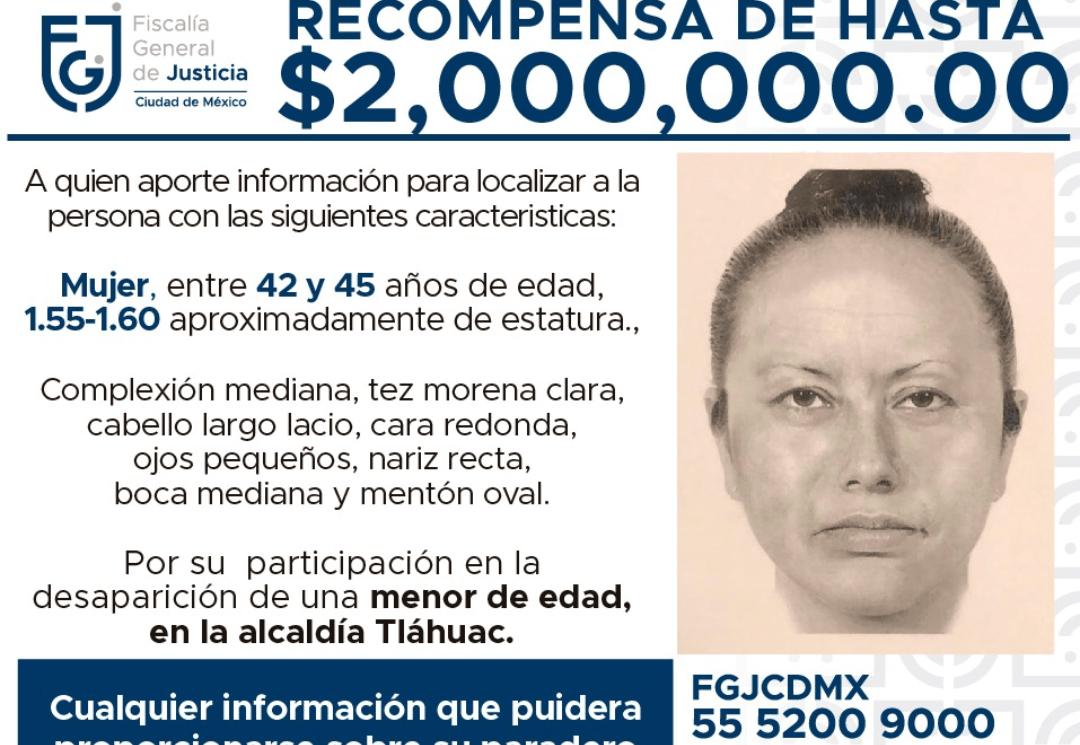 Difunden imagen de mujer que SECUESTRÓ a menor de 7 años que fue ASESINADA, VIOLADA, torturada y dejada SIN ÓRGANOS en México