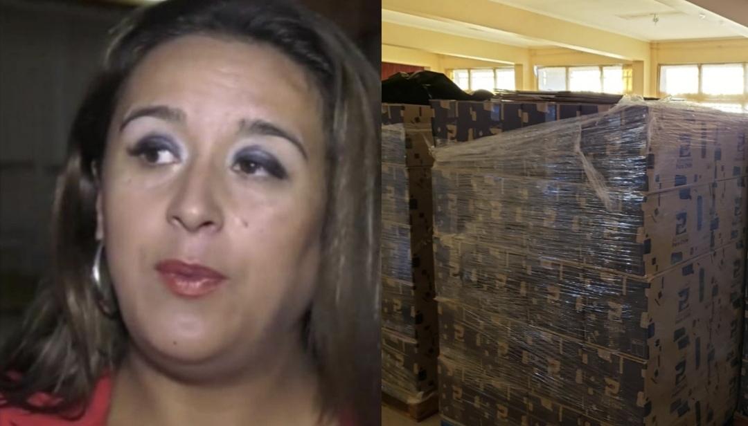 Funcionarios denuncian que ALCALDESA de Hualpén tiene CIENTOS de cajas de ayuda GUARDADAS