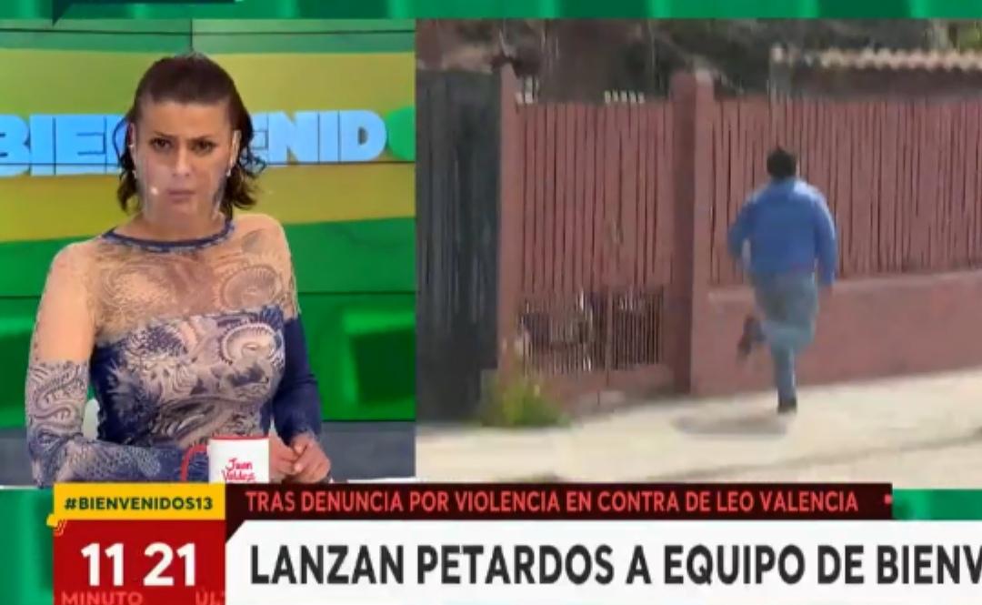 Amedrentan con EXPLOSIVOS a equipo de Bienvenidos por cubrir DENUNCIA contra Leo Valencia por VIF