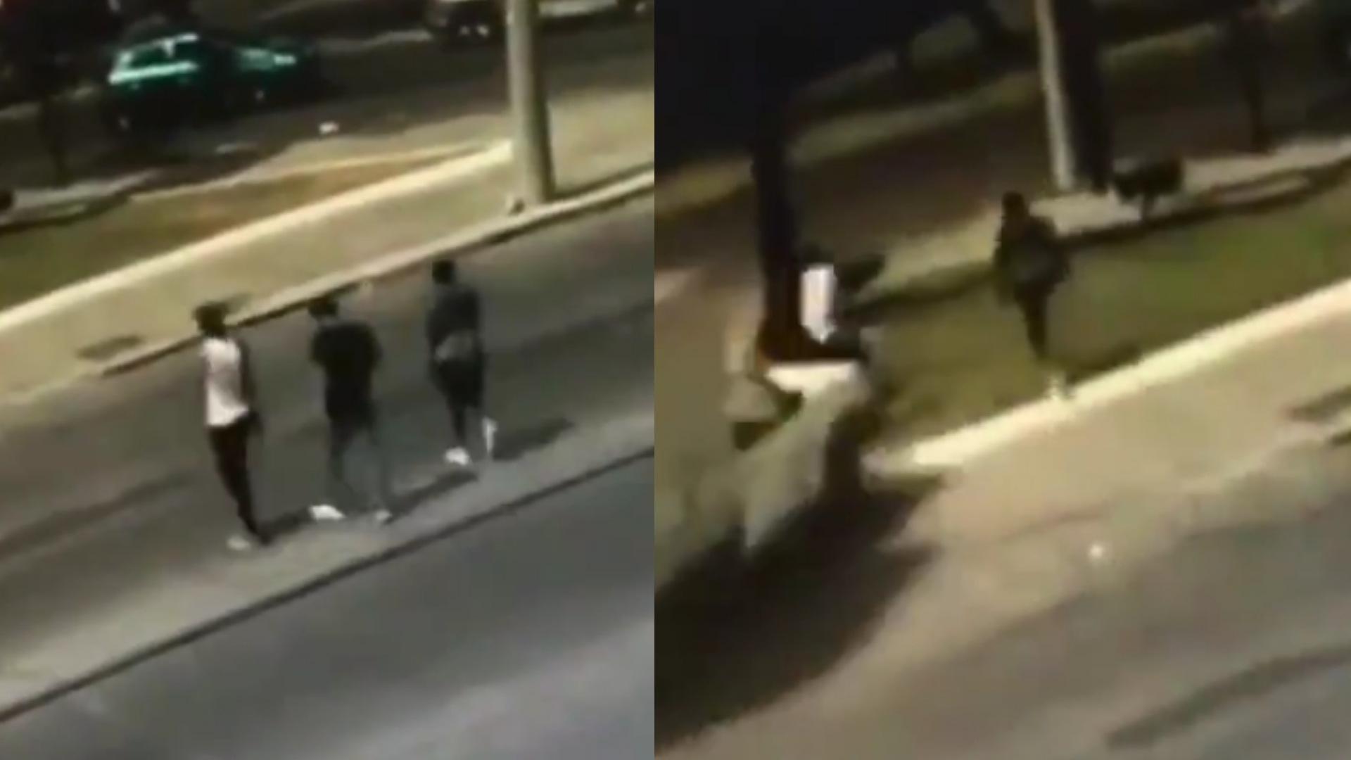 Cámara de seguridad capta cómo tres LADRONES son arrollados por VÍCTIMA tras robo