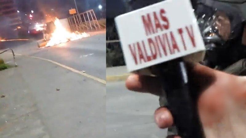 (FUERTE VIDEO) «¡Estoy herido! ¡Ayuda!»: reportero sufre brutal agresión en vivo tras manifestaciones en Valdivia