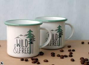 Emaille Tassen Tchibo Wild&Frei