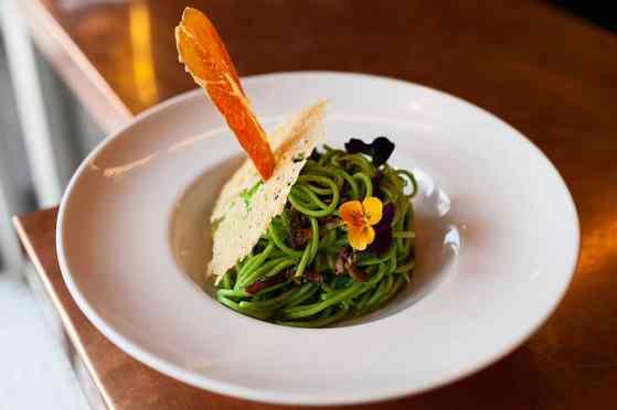 Spaghetti alla Carbonara Verde
