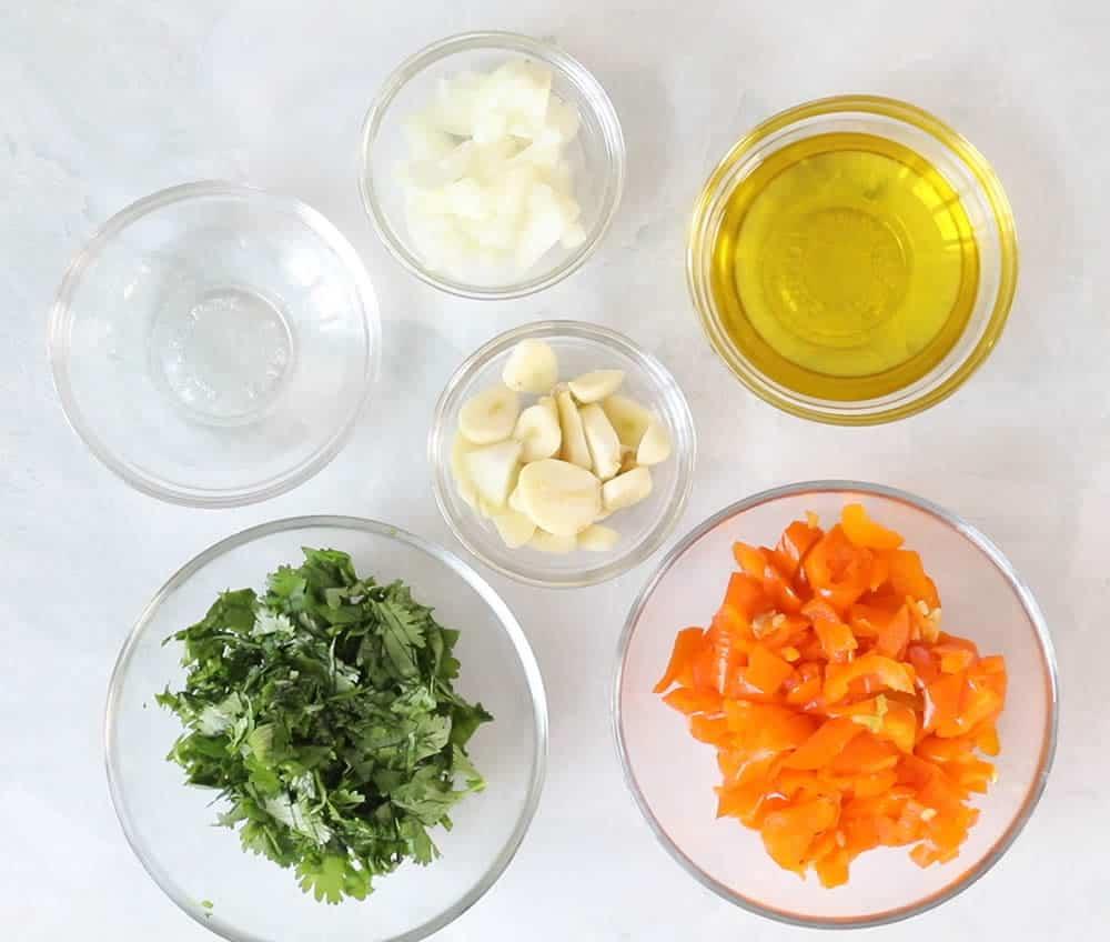 Chilean Pebre Ingredients