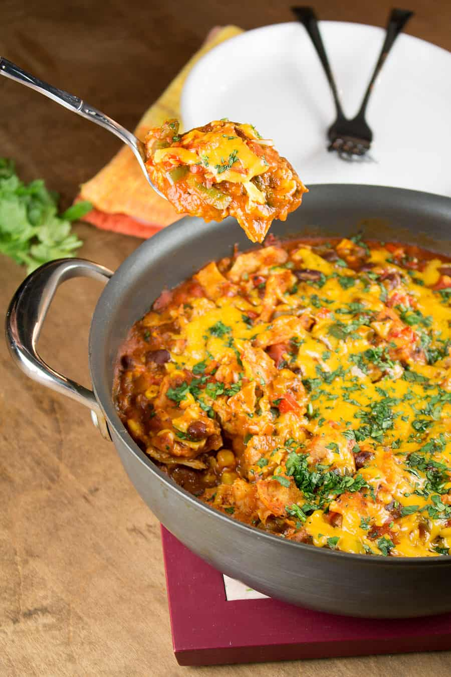 One-Pot Meatless Enchilada Stew (Casserole)