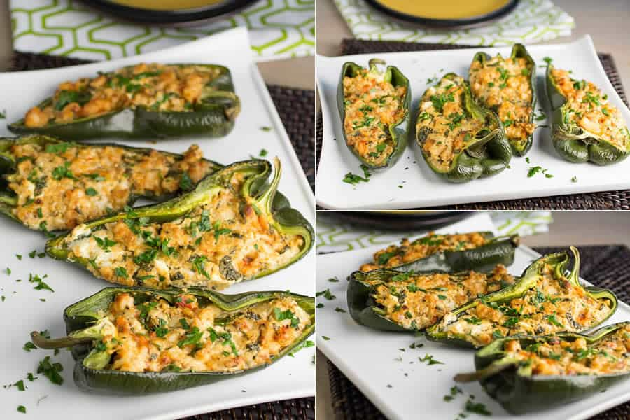 Cajun Shrimp Stuffed Poblano Peppers - the Baked Version