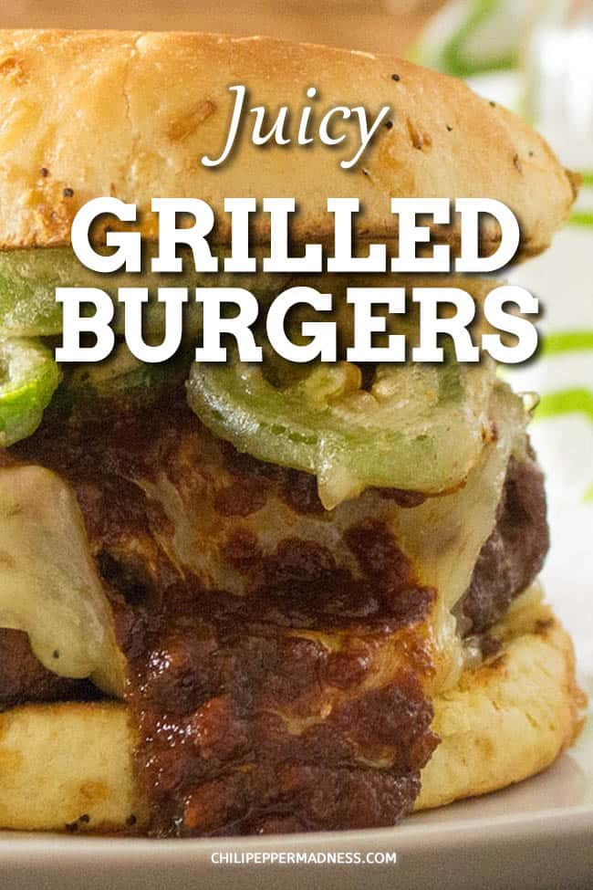 Juicy Grilled Burgers with BBQ Sauce