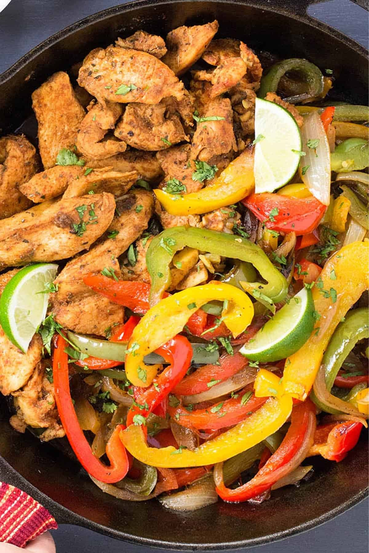 Juicy Braised Chicken Fajitas