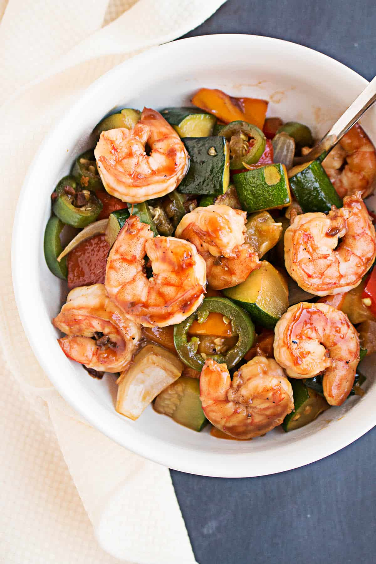 Spicy Teriyaki Shrimp Stir Fry