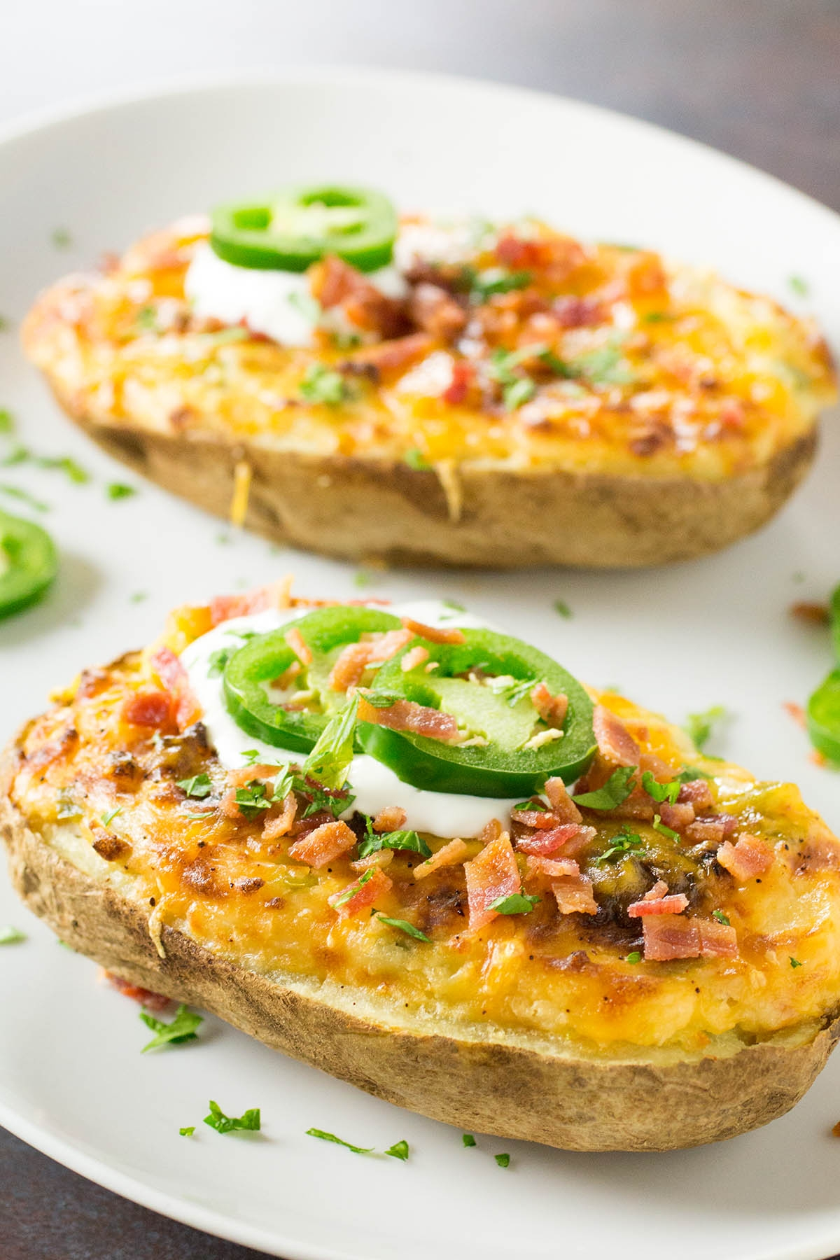 Jalapeno Popper Twice Baked Potatoes