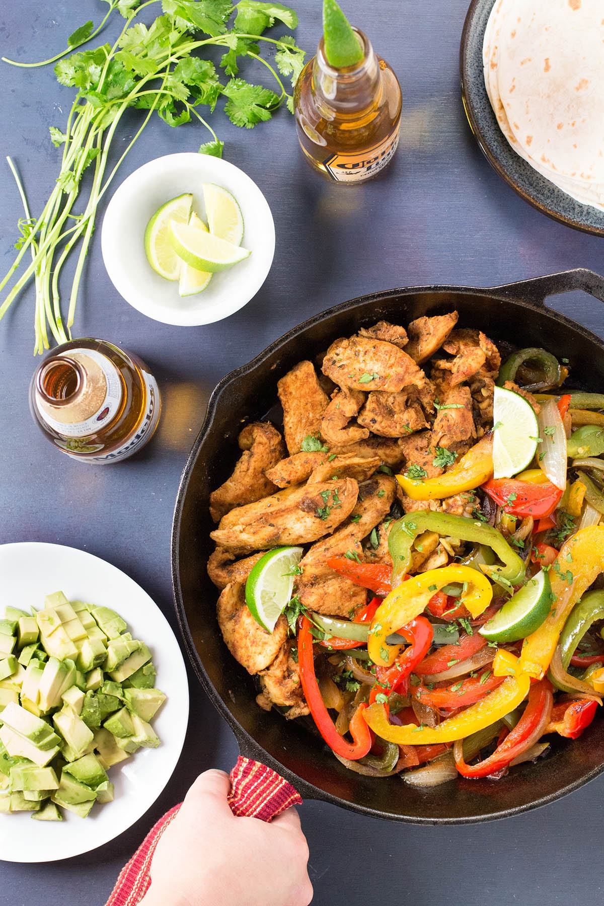 Beer Braised Chicken Fajitas