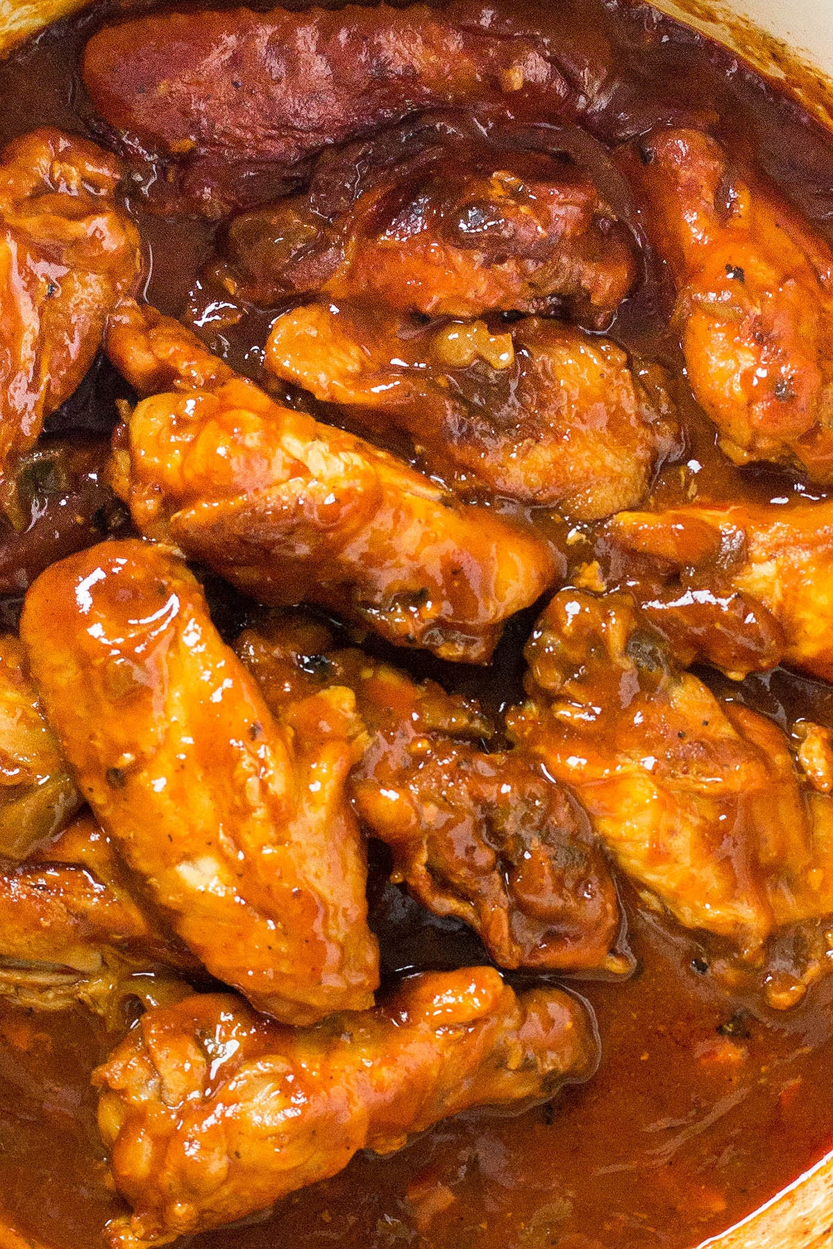 One-Pot Sweet and Spicy BBQ Chicken Wings