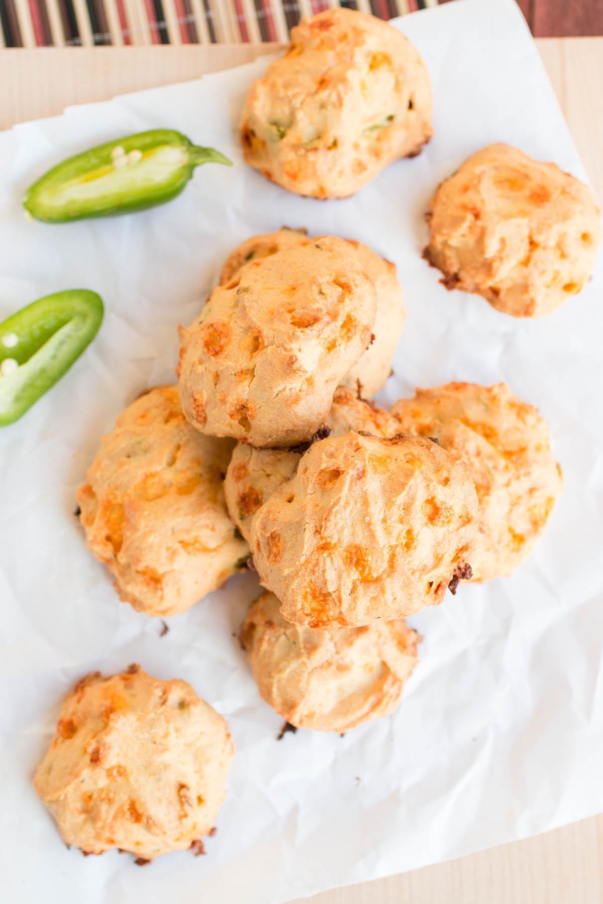Masa-Cheddar Cheese Puffs