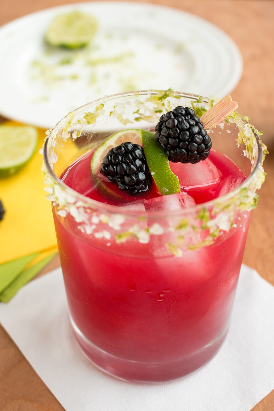 Spicy Blackberry Habanero Margarita